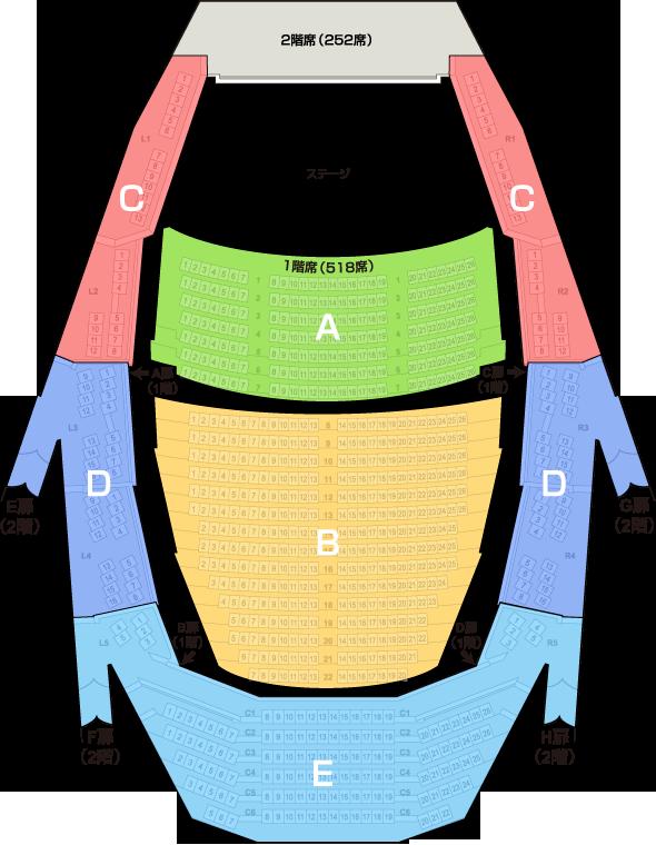 主ホール客席案内図