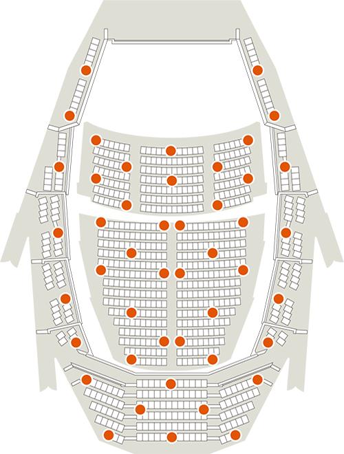 主ホール座席平面図